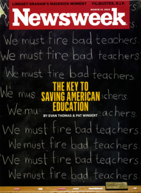 NewsWeek cover about the failure of American schools