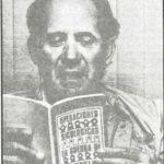 Edgar Chamorro reading the CIA assassination manual.