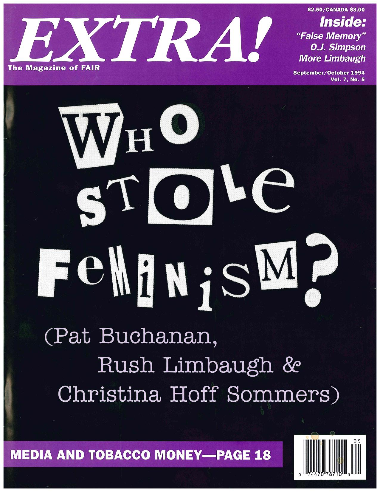 Who Stole Feminism? : How Women Have Betrayed Women by Christina Hoff Sommers (1