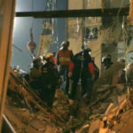 Rescue workers search the remains of the Murrah Building in the aftermath of the Oklahoma City bombing (photo: FEMA)