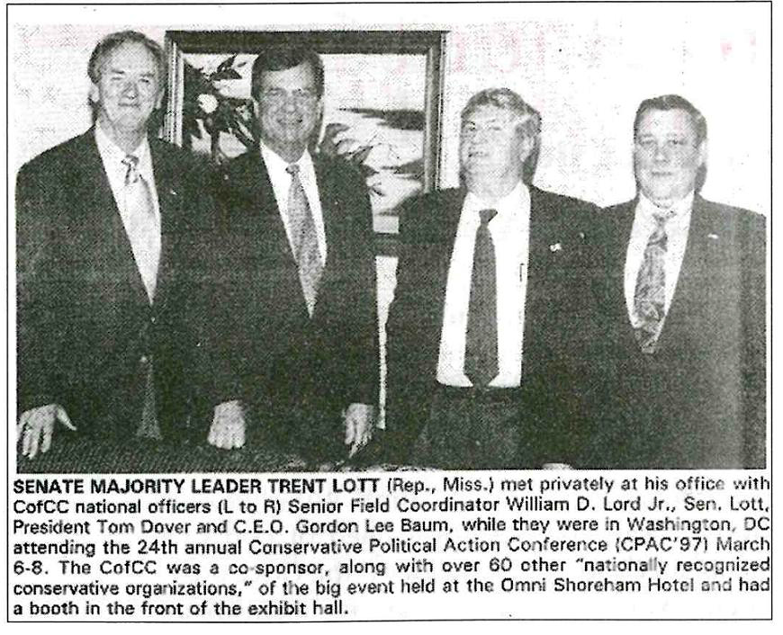 Trent Lott meets with white supremacist leaders