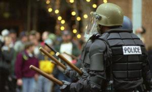 Riot police, Seattle (cc photo: Steve Kaiser)