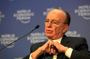 Rupert Murdoch at Davos  (photo: Monika Flueckiger/World Economic Forum)