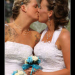 Brides kissing (CC Photo: Ben Salter)