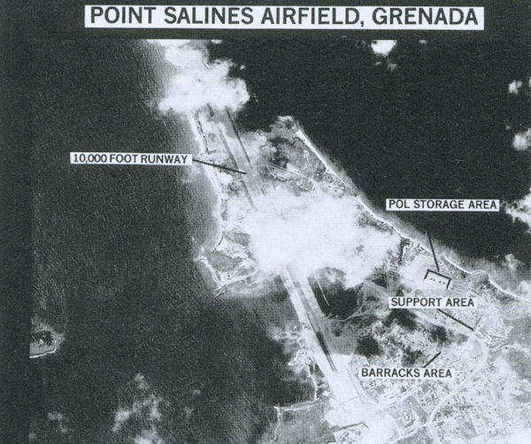 Aerial photographs were used to depict an airport being built for tourism as a military threat (DoD).