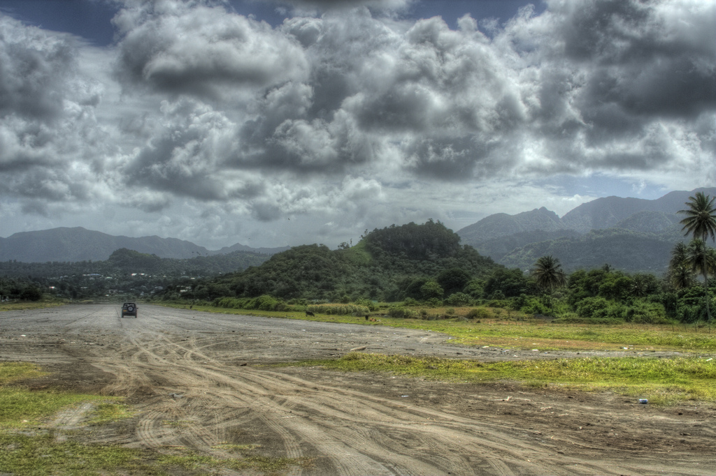 Grenada's incomplete airport in 2007 (cc photo: Lloyd Morgan).