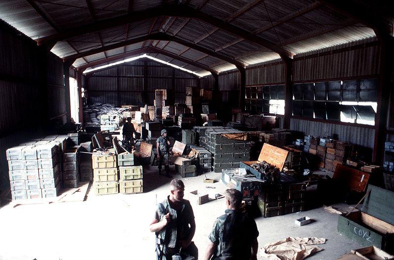 Grenada warehouse (DoD/Wikimedia)