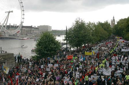 Anti-war march, London, September 28, 2003
