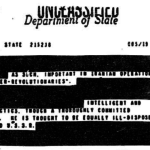 Redacted State Department Documents (National Security Archives)