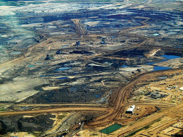 Tar sand mining operation in Alberta, Canada