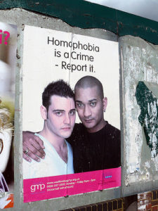 Homophobia poster--Photo Credit: Flickr Creative Commons/Mike_fleming