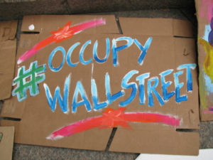 Occupy Wall Street sign (cc photo: edenpictures)