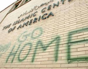 Graffiti on the Islamic Center of America--Photo Credit: Center for American Progress
