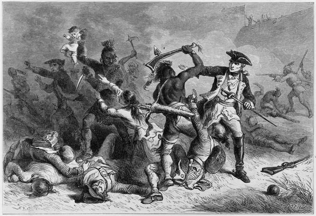 19th century depiction of the battle of Fort William Henry.