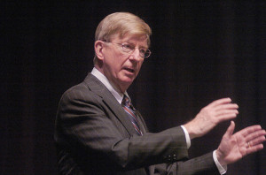 "George Will to ""climate Cassandras"": ""enough already"" (cc photo: Penn State News)"