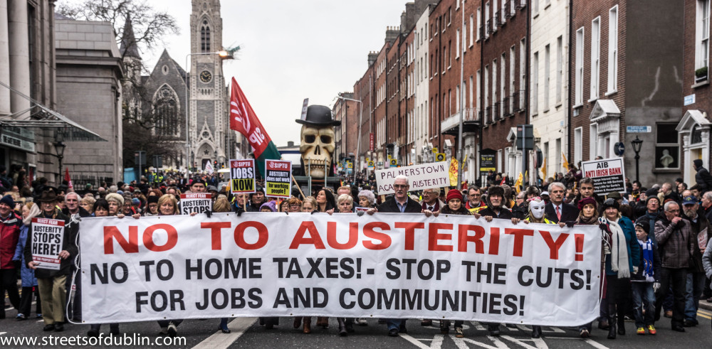 Irish anti-austerity protest (StreetsOfDublin.com)