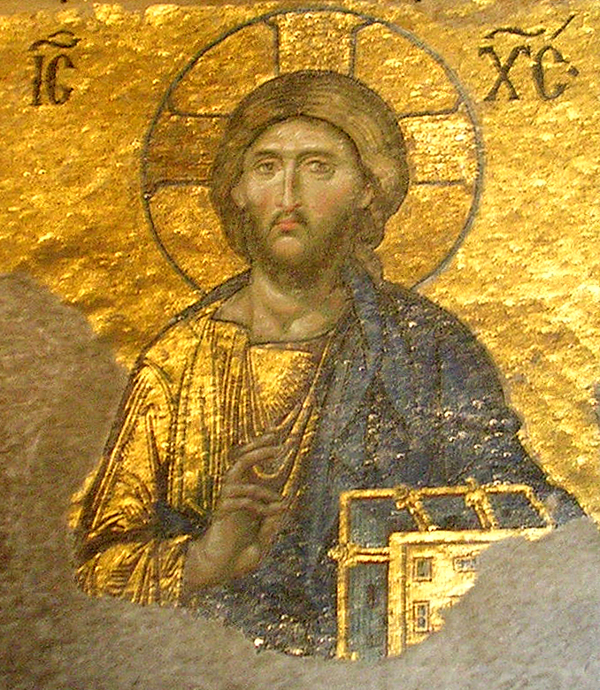 Jesus depicted in the Hagia Sophia (cc photo: Jake Bouma)