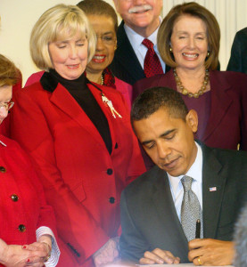 Signing of Lilly Ledbetter Act--Photo Credit: Flickr Creative Commons/House Committee on Education and the Workforce Dem