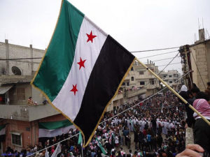 Syria's Flag--Photo Credit: Flickr Creative Commons/Freedom House