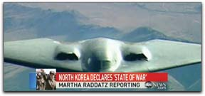 Stealth bombers pretended to drop nuclear bombs along North Korea's borders.