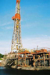 Fracking tower  (cc photo: Helen Slottje)