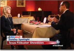 ABC's Jeff Zeleny interviewing Wendy Davis
