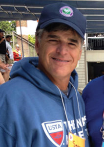 Sean Hannity wears a hoodie (Photo: Melanie Rubin)