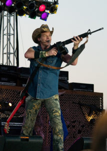 Ted Nugent with weapon (cc photo: David Defoe)