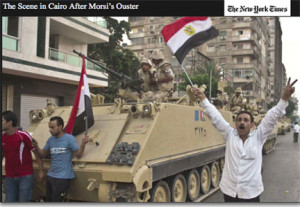 New York Times photo of Morsi's ''ouster''
