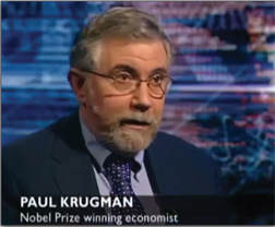 "Krugman on the ""cult of balance"": ""If one party declared that the earth was flat, the headlines would read 'Views Differ on Shape of Planet.'"""