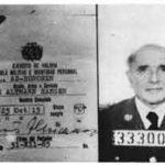 Klaus Barbie's Bolivian secret police ID