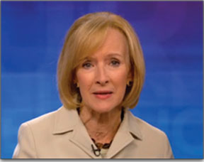 """PBS's Judy Woodruff referred to """"the president's healthcare law"""" - as if the ACA hadn't been passed by both houses of Congress and upheld by the Supreme Court."""