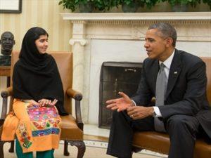 Obama meeting with Malala Yousafzai