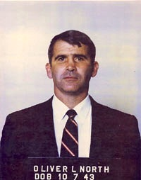 Oliver North mugshot