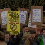 Students boycotting standardized testing at Garfield High School in Washington state.