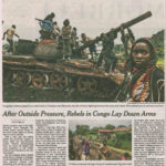This New York Times piece gave the US credit for pressuring Rwanda to rein in its violent proxies, but failed to note how US aid had supported violence in the region.