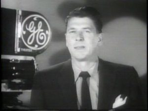 GE spokesperson Ronald Reagan