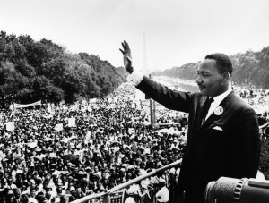 Martin Luther King at the March on Washington (Wikimedia)