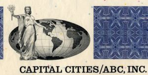 Capital Cities/ABC Stock Certificate