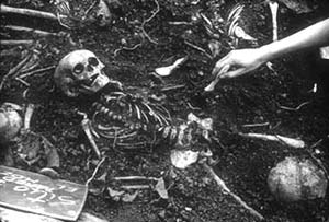 Remains of a child, El Mozote
