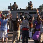 Ferguson police, protest