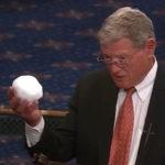 Inhofe with snowball (C-SPAN)