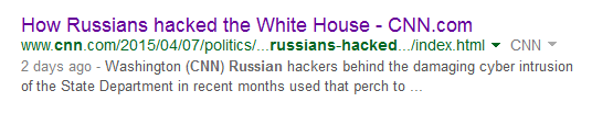 CNN: Russians Hacked the White House