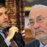 Paul Krugman, Joseph Stiglitz (cc photos: Prolineserver, Raimond Spekking)