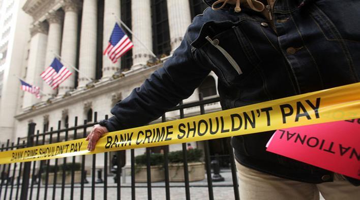 Bank crime scene. Photo: WashingtonsBlog