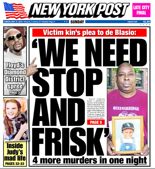 NY Post: 'We Need Stop & Frisk'