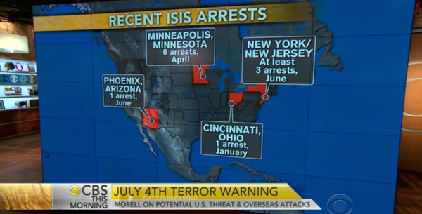 CBS This Morning: Recent ISIS Arrests