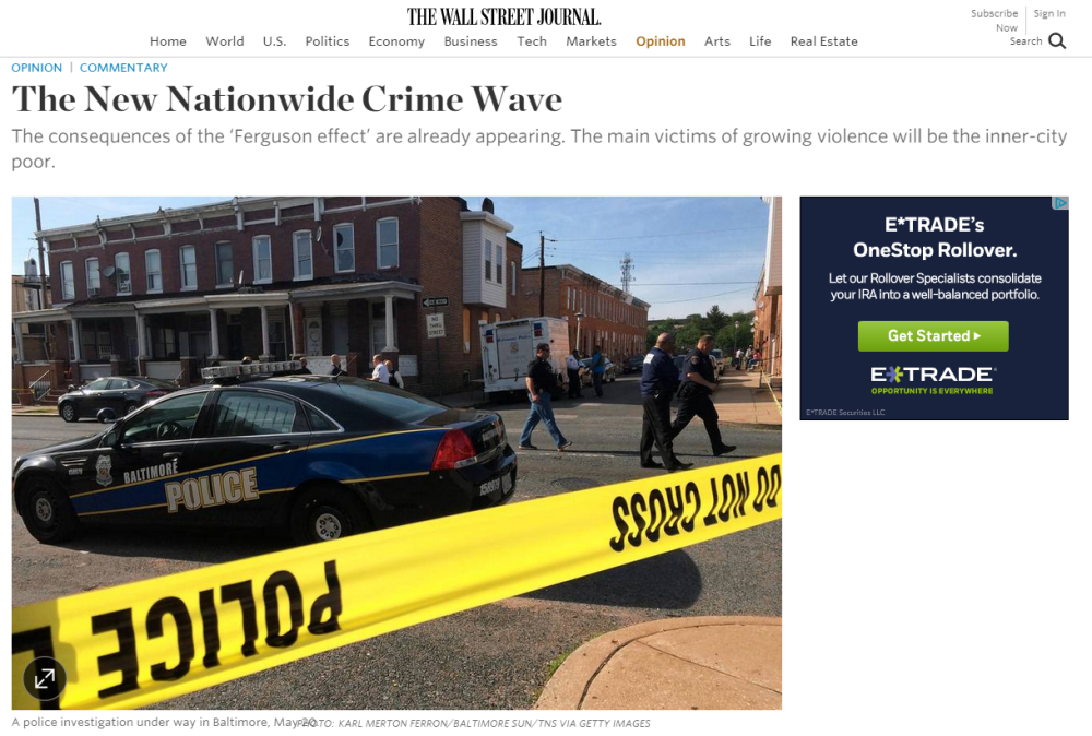 WSJ: The New Nationwide Crime Wave