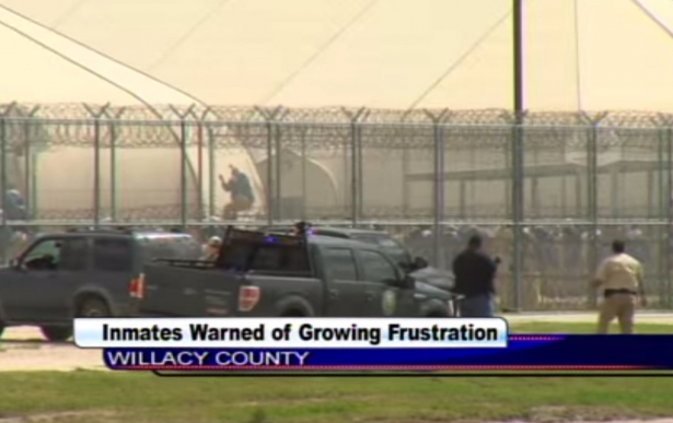 Willacy Prison Riot (image: KGBT Action 4 News/The Nation)