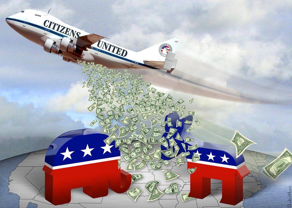 Money in politics (cc image: DonkeyHotey)